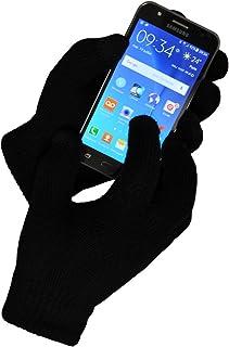 TOUTACOO, Gants Tactiles (10 doigts) EN CACHEMIRE avec doublure pour iPhone, Samsung et Smarphones, Noir, Taille unique