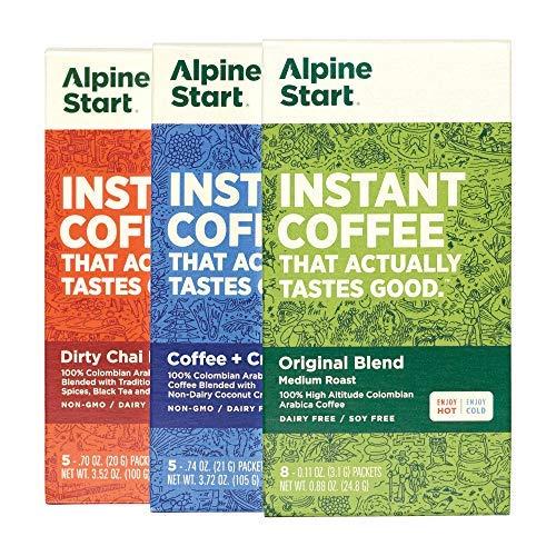 Alpine Start Premium Instant Coffee Variety 3-Pack,...