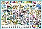 【Ver.2.0】Alphabet&Numbers:おふろで学べるアルファベットポスター 【English basics ABC ver.】 A2 420×594