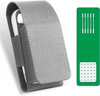 E Zigarette Tasche für IQOS 3 und IQOS 3 Duo Heets Pu Leder Zigarettenetui Mit 5 Cleaning Sticks, Oel-Absorptionskissen (n...