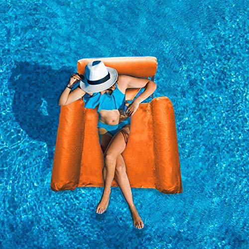 JIAMEI Schwimmende Liege Lounge, Pool-Liege, Wasser-Hängematte, aufblasbare Floßen, Schwimmbad, Luftsofa, schwimmender Stuhl für Schwimmen, Ozean, See, Erwachsene