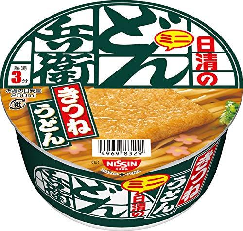 NISSIN Cup Noodles Donbe Kitsune Udon east mini Ramen 42g × 12 Japón