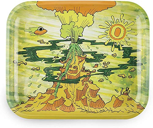 Ooze Metal Rolling Tray Large- Eruption