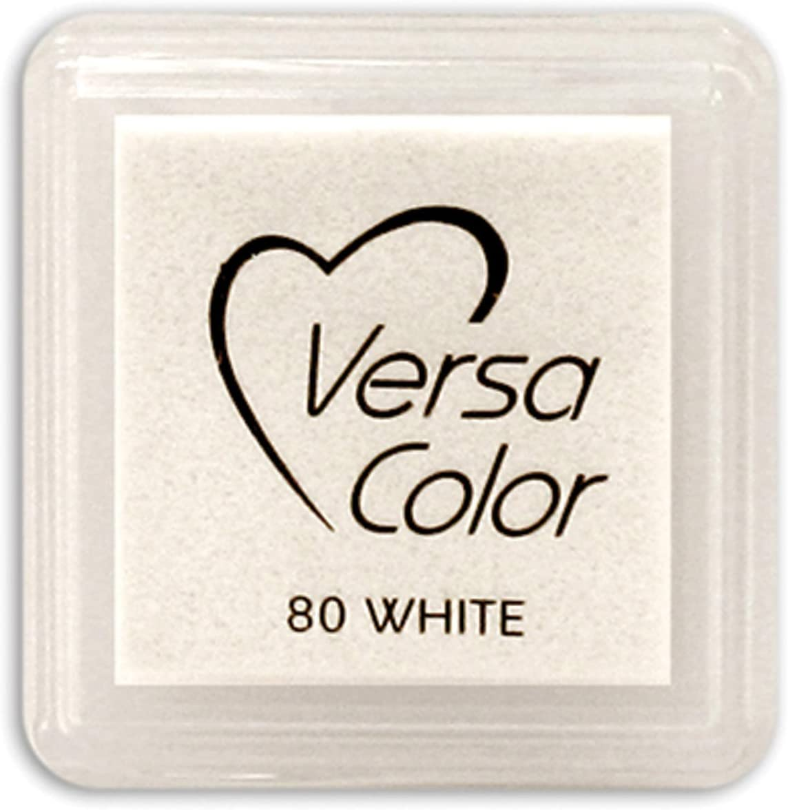 VersaColor Pigment Mini Pad-White Rapid At the price rise Fabric Ink