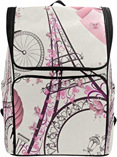 Laptop Backpack Love Paris Doodle College Backpack for Men Large Boxy Back Pack