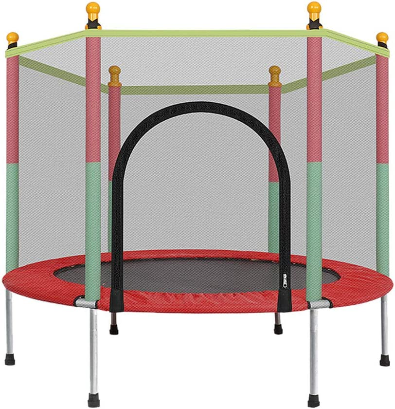Wotryit 5FT Kids Trampoline with Enclosure Net Jumping Mat and S