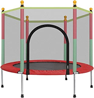 ErYao 5FT Kids Trampoline with Enclosure Net Jumping Mat and Spring Cover Padding(USA Stock)