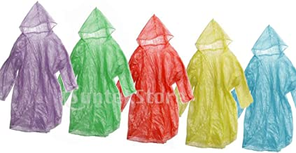 12pcs Disposable Emergency Adult Hood Raincoat for Camping Hiking Travel