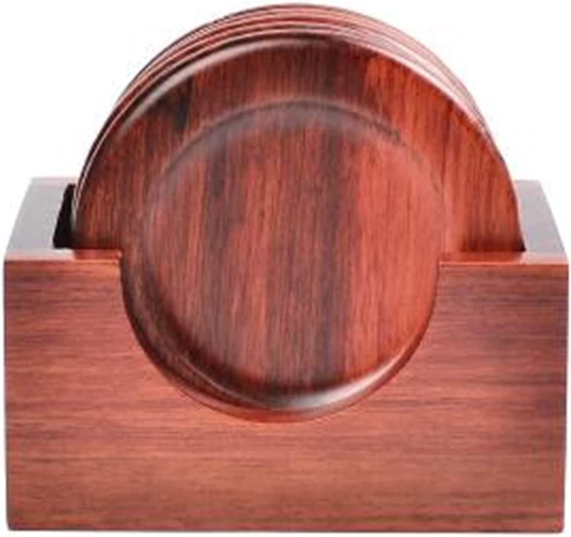 ZHQY 6pcs Set Tea Cup Cheap mail order specialty store Wo Cheap SALE Start Coasters Rosewood Accessories Ebony