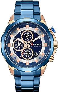 Quartz Watches for Men Waterproof Sports Business Classic Analog Mechanical Wrist Watch Automatic Date Window Stainless Steel Belt