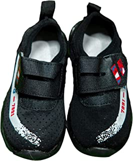 Hopscotch Little Maira Rubber Led Shoes Sneakers for Boys and Girls - Black