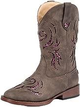 Roper Kids Glitter Breeze Round Toe Brown Boots