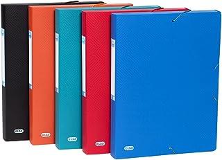 Elba Boîte de collecte urbaine en plastique DIN A4 largeur 40 mm paquet de 10 assortiment de 5 couleurs opaques - idéal po...