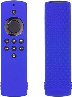 N/Z Funda protectora para Fire TV Stick de silicona, compatible con mando a distancia por voz Fire TV, ligera, antidesliza...