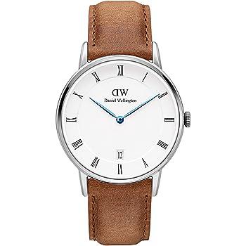 Daniel Wellington Dapper Durham Silver Watch, 34mm, Leather, for Men and Women
