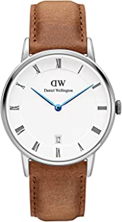 Daniel Wellington Dapper Durham Silver Watch, 34mm, Leather, for Men and Women