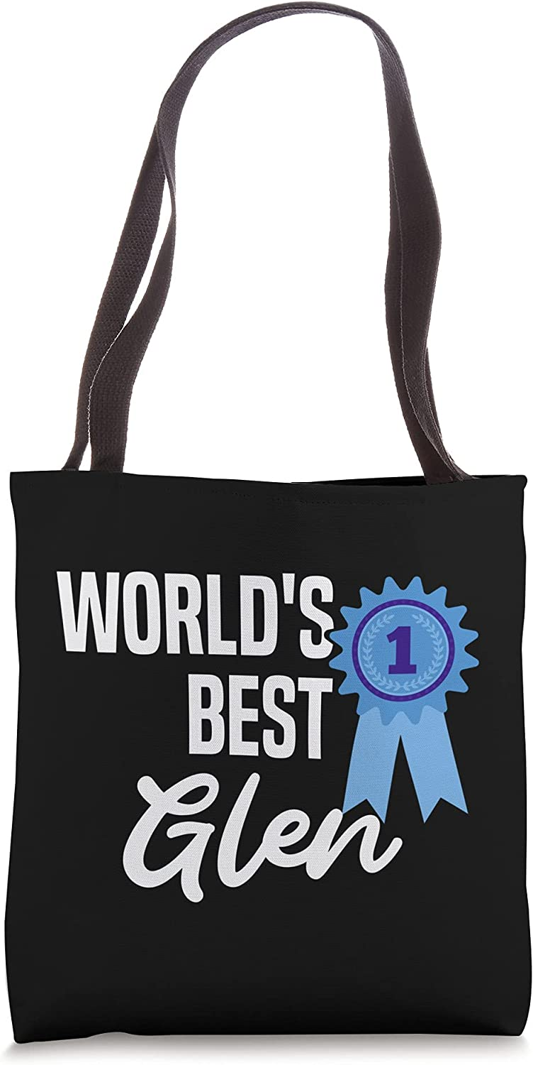 World's Best Glen Name Personalized Tote Bag