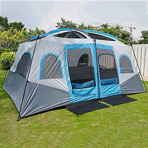 Zelt 8 Und 10 Personen Camping Zelte/Wasserdicht 3-4 Saison Kuppelzelt Sofortiges Aufstellen/Für Trekking, Outdoor, Festival, Camping, Rucksac,Blau