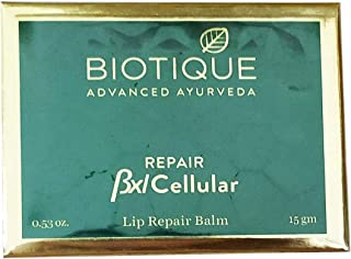 Biotique 1 Advanced Ayurveda Bxl Cellular Lip Repair Balm (15 gm) Almond Oil 5%, Saffron Stigme 25%, Rose Flower 2%, Turme...