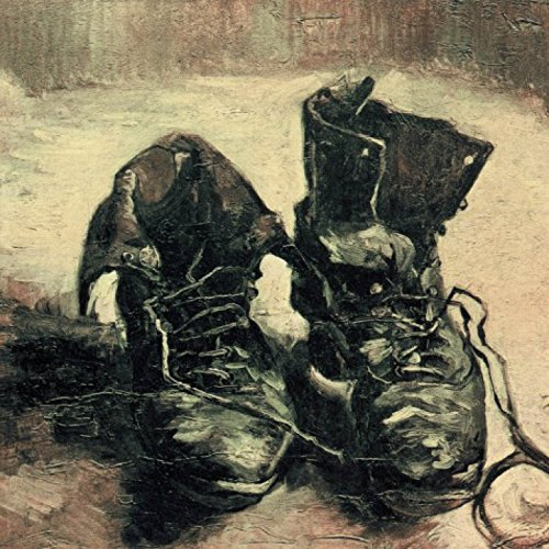 1art1 53332 Vincent Van Gogh - Stilleben, EIN Paar Schuhe, 1886 Poster Kunstdruck 40 x 40 cm
