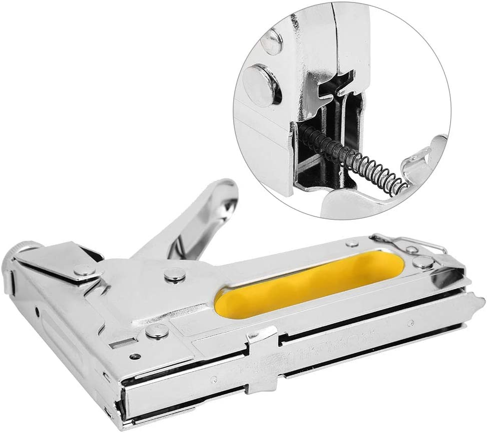 Oumefar Nailing Tool Manual Nailer Staple Gun Hand Operated Fram
