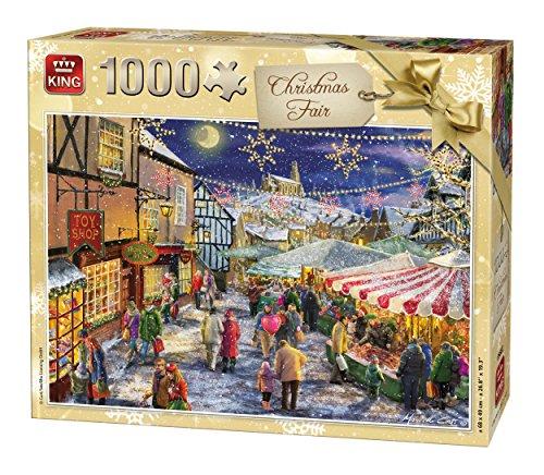 King 5682 Puzzle Fair Christmas, 1000 Teile, 68 x 49 cm