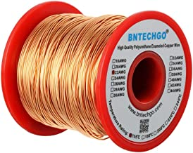 BNTECHGO 22 AWG Magnet Wire - Enameled Copper Wire - Enameled Magnet Winding Wire - 1.0 lb - 0.0256