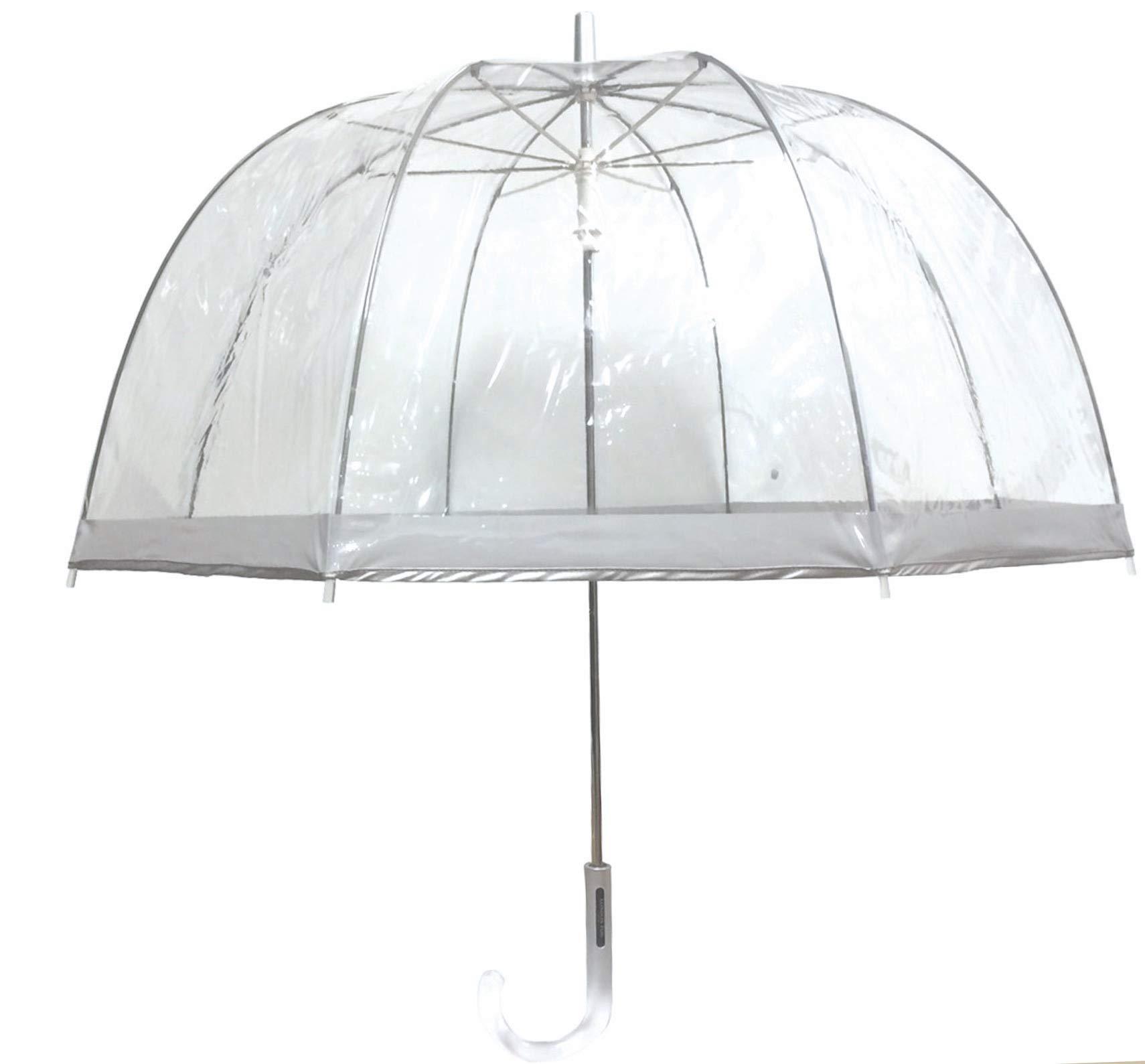 London Fog Clear Umbrella Silver