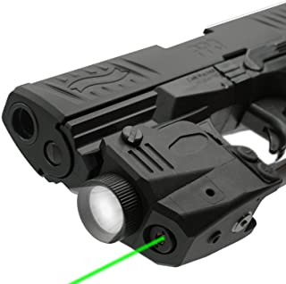 Combo Red Laser Sight LED Flashlight Gun Rifle Rail Mount Pistol Light Torch USA