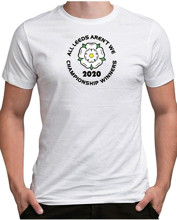 Leeds United Championnat Champions 2020 T Chemise Bleu Marine S-XXL Tee Top Cadeau Unisexe