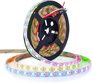 BTF-LIGHTING WS2812B ECO RGB Alloy Wires 5050SMD Individual Addressable 16.4FT 60Pixels/m 300Pixels Flexible White PCB Ful...