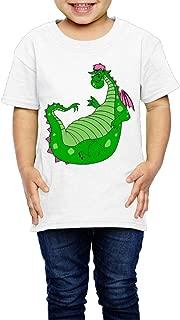 Boxer98 Kid's T Shirt For Girls&Boys - Cartoon Cute Dragon White