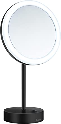 JVD 866610Eclips Illuminated Magnifying Mirror with Brass Arm Square