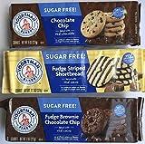 Voortman Sugar-Free Cookies, Fudge Brownie Chocolate Chip/Fudge Striped Shortbread/Chocolate Chip/...