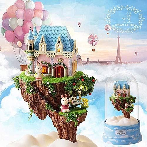 Taoke Miniatur-Puppen Kit Miniatur-Puppenhaus DIY Handwerk Kit Möbel Holzhaus Romantic House Multicolor Optional (Farbe: 2, Größe: One Size) 8bayfa (Color : 4, Size : One Size)