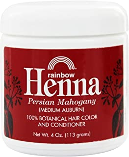 Henna (Persian) - Medium Auburn, Mahogany, 4 oz (Pack of 2)