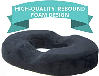[New Design] Donut Cushion for Tailbone Pain, High-Quality Rebound Foam, Ultra Premium Quality Pain Relief; Tailbone, Hemorrhoid's, Post-Surgery Relief, Bed Sores - Firm