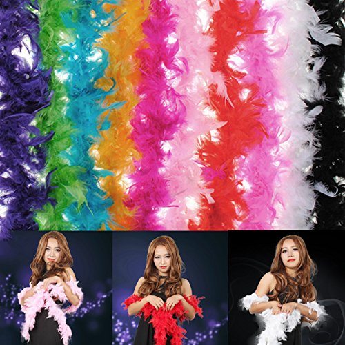 Bargain World Costume Fluffy Feather Boa Hen Night Party Wedding Dress Up Scarf