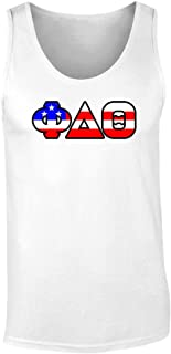 Fashion Greek Phi Delta Theta American Flag Tank Top by