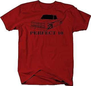 Bold Imprints Perfect 10 Muscle Car C10 Fleetside 1973-87 Square Body Truck T Shirt for Men
