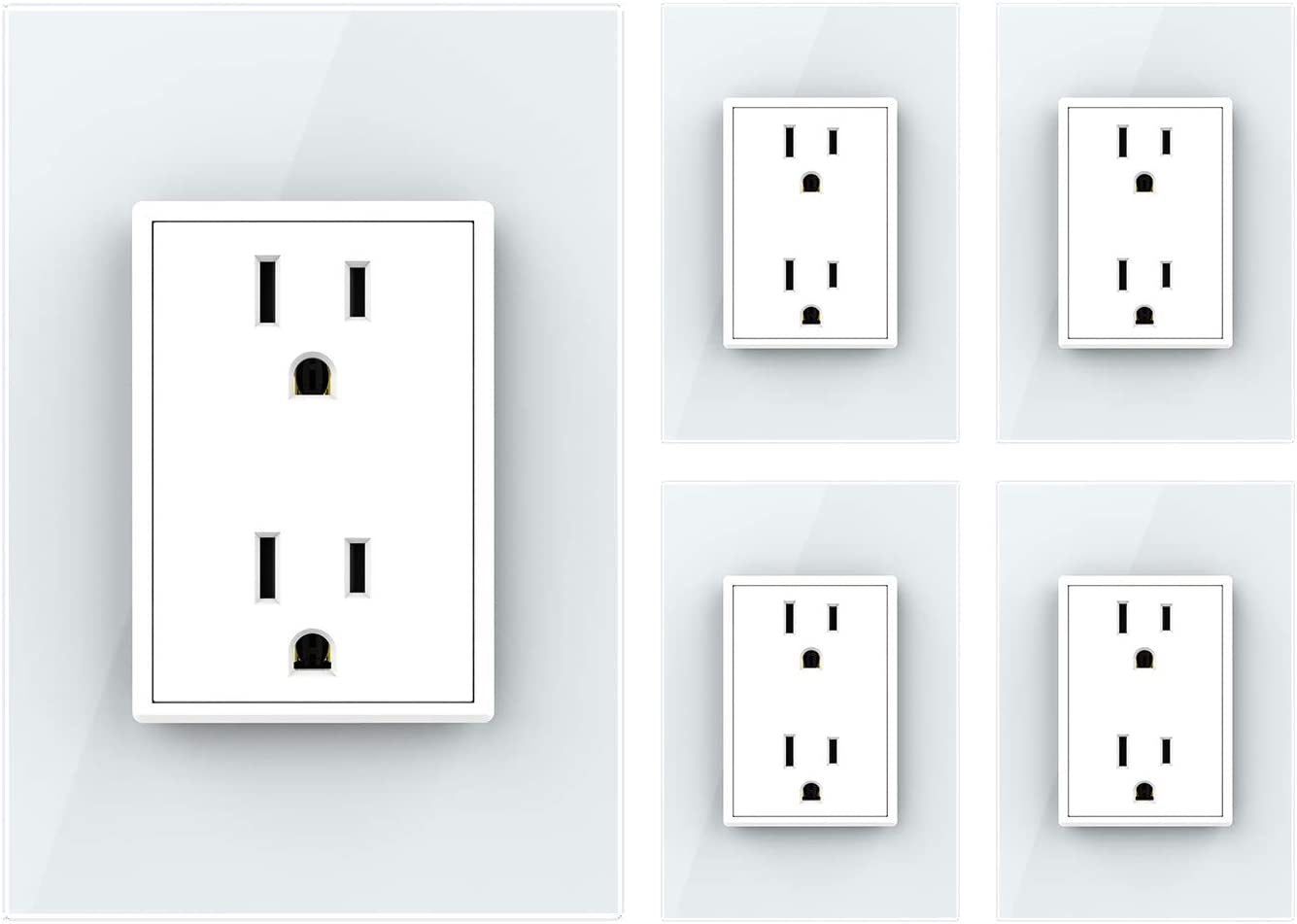 Brand new LIVOLO White US Super Special SALE held Standard Vertical Receptacle O Electrical Duplex