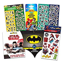 Image: Superhero Stickers for Kids Boys Girls Set ~ Over 800 Licensed Super Hero Stickers on 54 Sheets Featuring Marvel Avengers, Spiderman, Justice League, Batman, Superhero and More (Party Favors Pack)