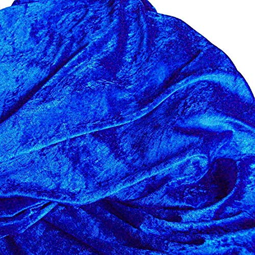 TOLKO Dekostoff - Pannesamt Meterware mit Stretch zum Nähen, Basteln und Dekorieren (Royal-Blau)