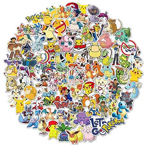 Juego 17 pegatinas 17 piezas pegatinas Pokemon Pikachu monopatín impermeable dibujos animados guitarra TAKARA TOMY portátil equipaje casco pegatina fresca juguetes niños