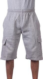 Pro Club Mens Fleece Cargo Shorts Heather Grey