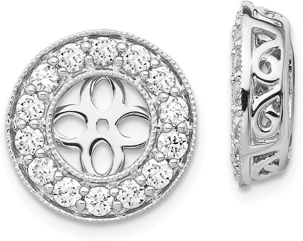 FB Jewels 14K White Gold True Origin Lab Grown Diamond VS SI D,E,F Earring Jackets