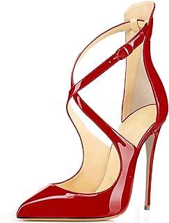 elashe- Scarpe da Donna - Scarpe col Tacco - Classiche Scarpe col Tacco - Talloni Cinghia Trasversale