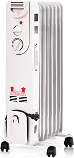 TANGKULA 1500W Oil-Filled Heater, Portable Radiator Heater with Adjustable Thermostat, Tip Over & Overheating Protection, ...
