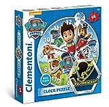 Clementoni 23024.–Clock Puzzle Paw Patrol, 96Stück