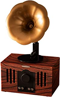 $104 » DSWHM Exquisite and Elegant Music Box Small Portable Bluetooth Speaker Retro Vintage Phonograph Shape Home Decor,Built in ...